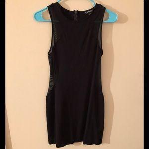 Express Black Dress - Side Mesh Cutouts